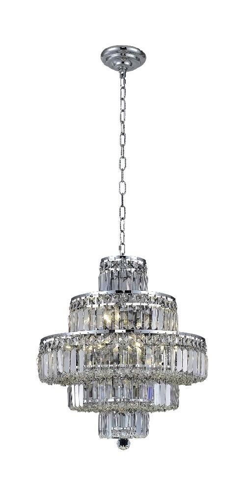 Lighting Furniture Chrome Chandelier Light Crystal Photo