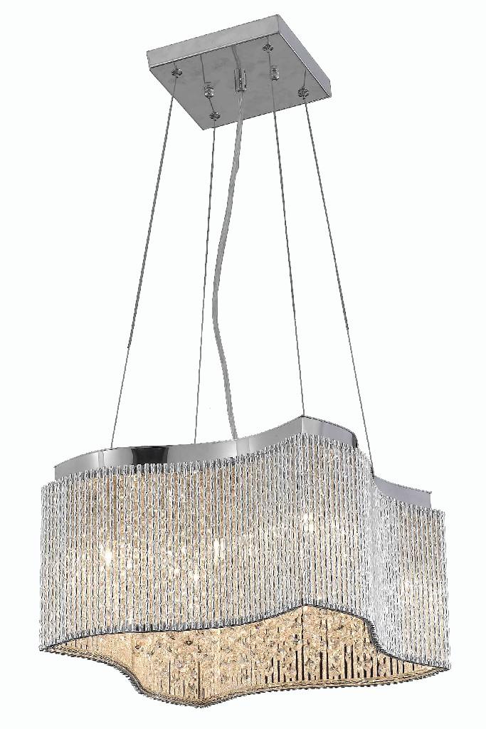Elegant Lighting Influx Light Chrome Pendant Clear Royal Cut Crystal