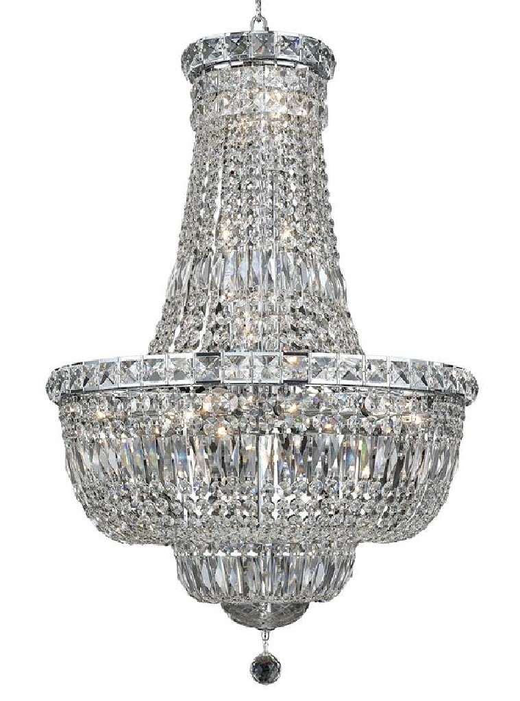 Elegant Lighting Tranquil Light Chrome Chandelier Clear Royal Cut Crystal