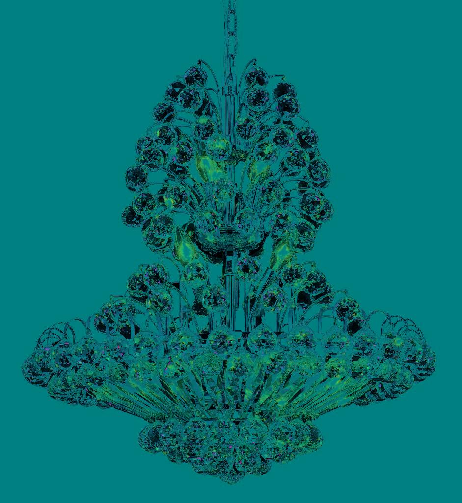 Elegant Lighting Sirius Light Chrome Chandelier Clear Royal Cut Crystal