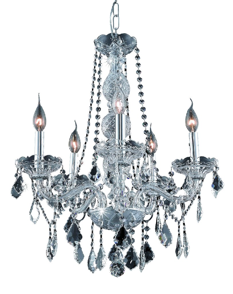 Elegant Lighting Light Chrome Chandelier Clear Swarovski Elements Crystal
