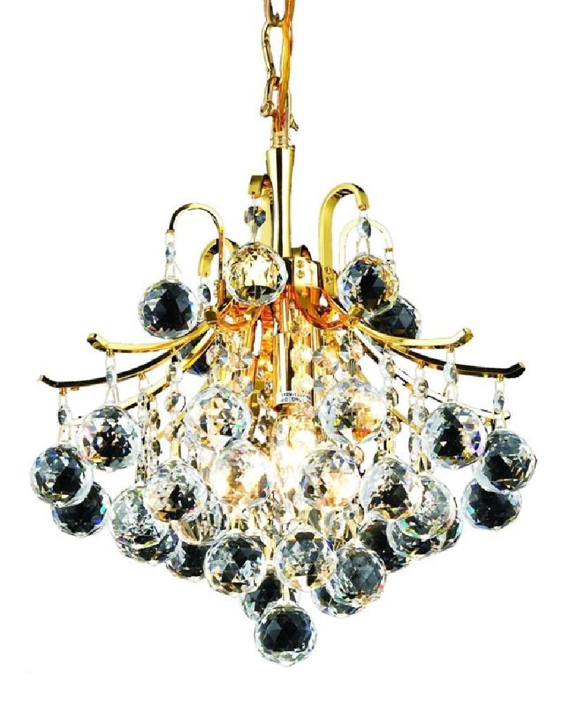 Elegant Lighting Light Gold Pendant Clear Spectra Swarovski Crystal