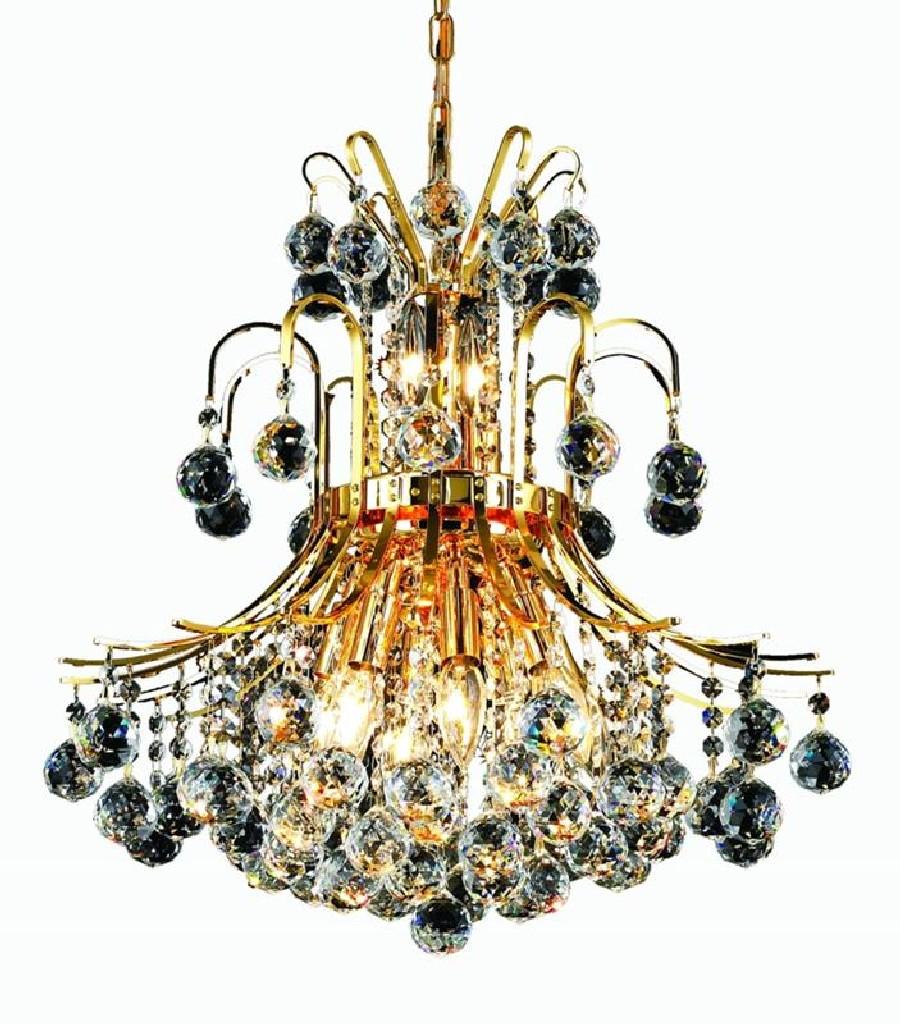 Elegant Lighting Light Gold Pendant Clear Elegant Cut Crystal