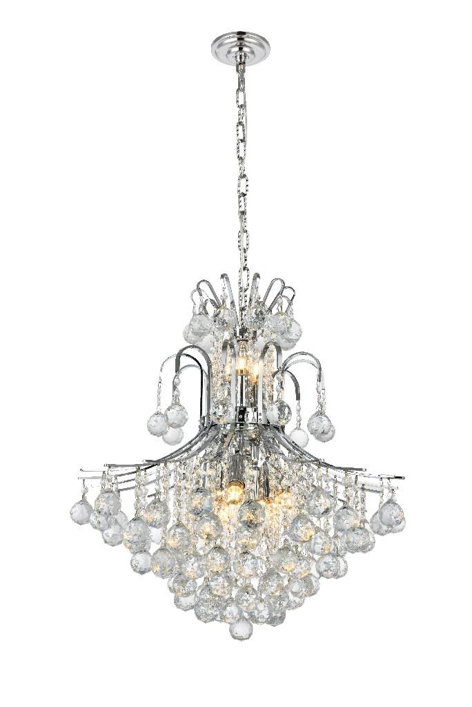Elegant Lighting Light Chrome Chandelier Clear Elegant Cut Crystal