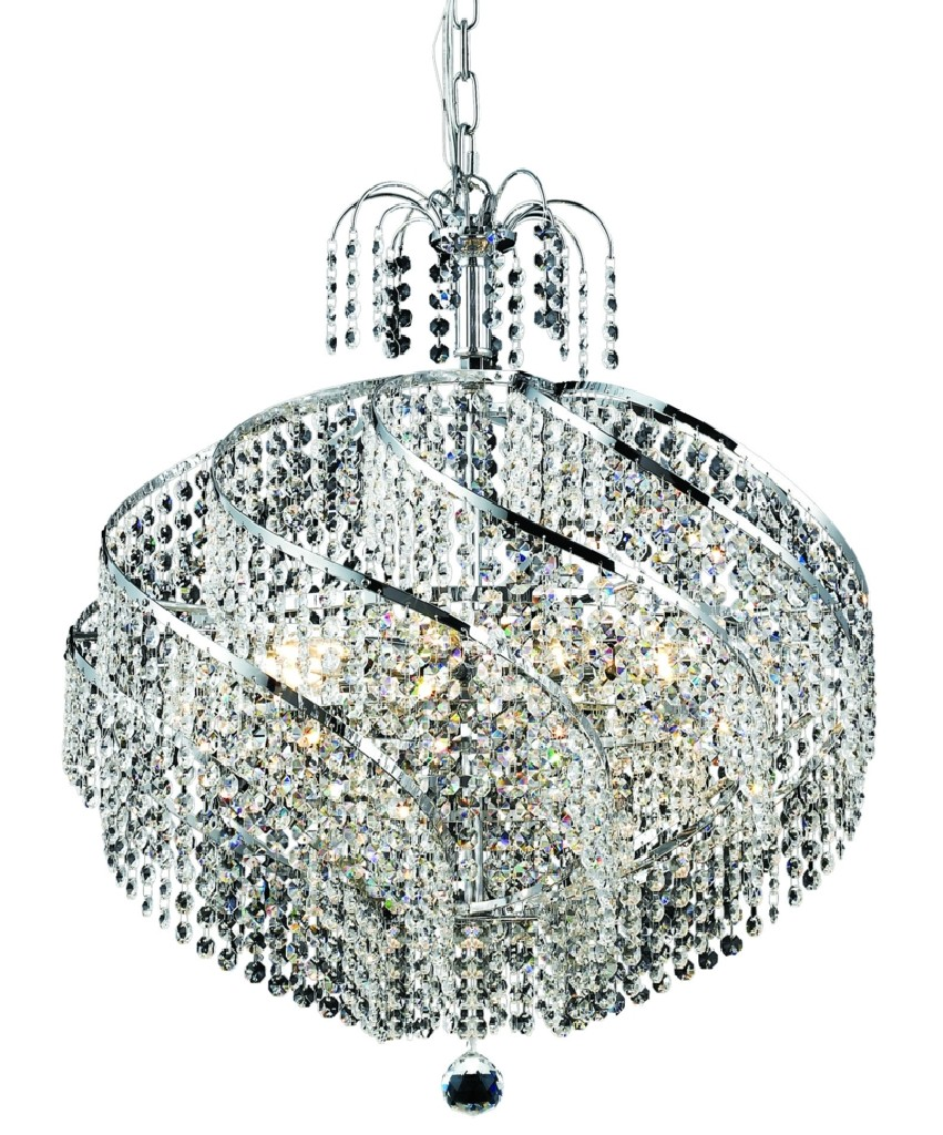 Lighting Chrome Chandelier Light Crystal