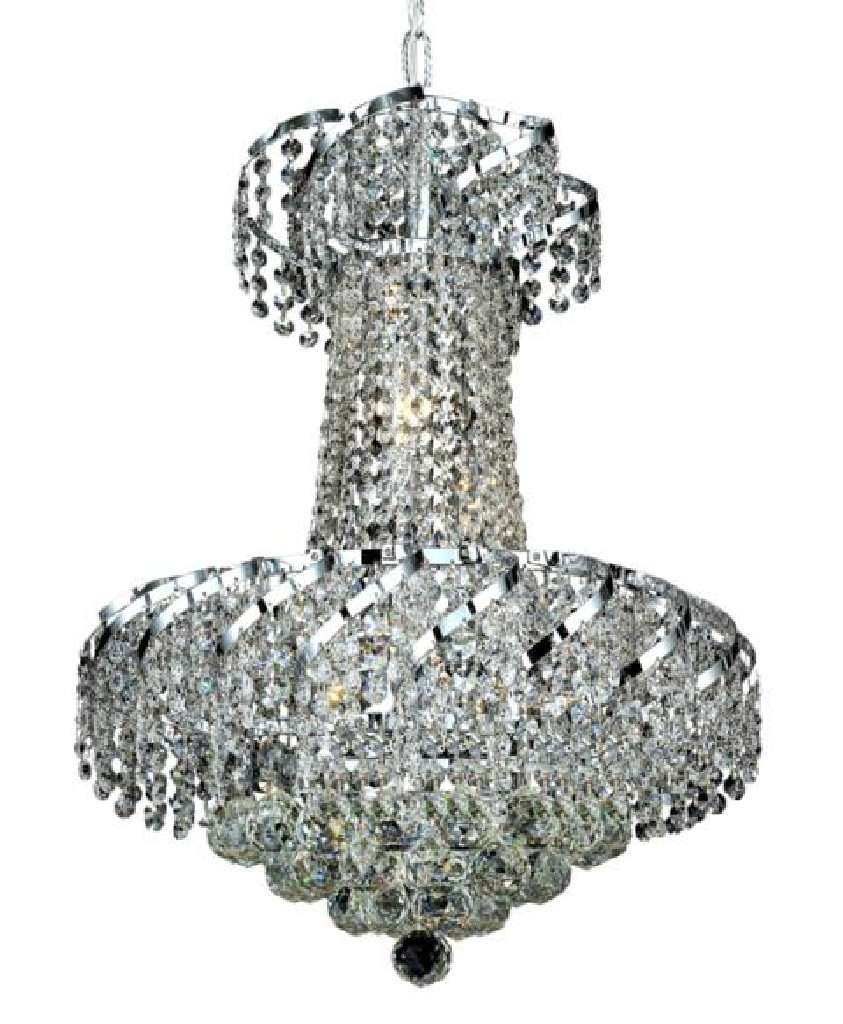 Elegant Lighting Light Chrome Pendant Clear Elegant Cut Crystal