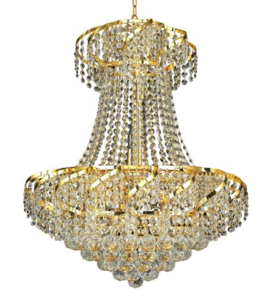 Elegant Lighting Light Gold Chandelier Clear Elegant Cut Crystal