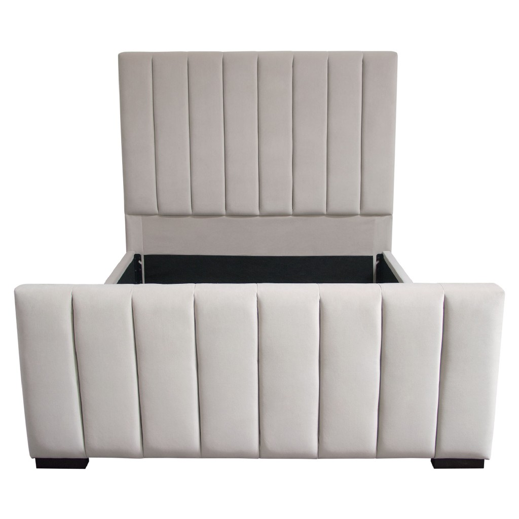 Diamond Sofa Furniture Vertical Tufted Queen Bed Photo