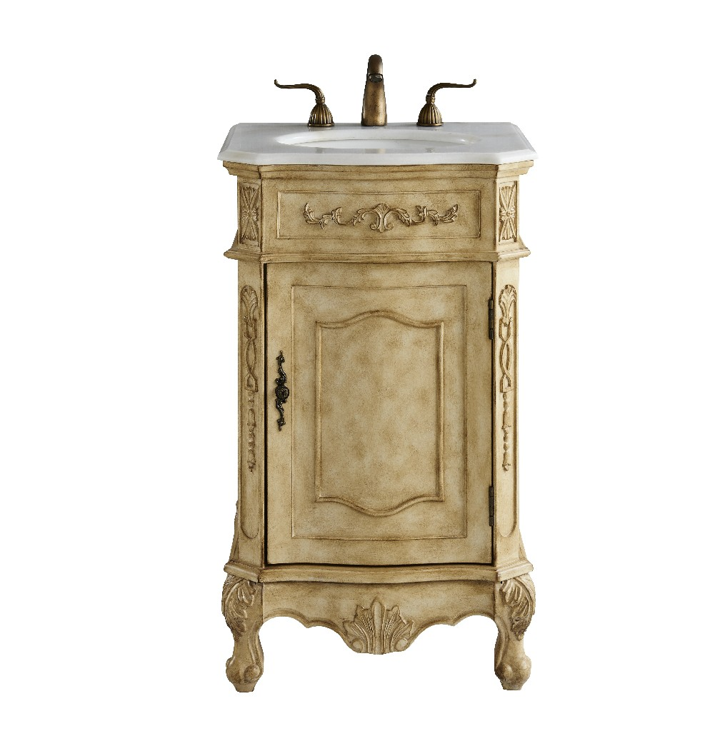 Elegant Lighting Single Bathroom Vanity Set Antique Beige