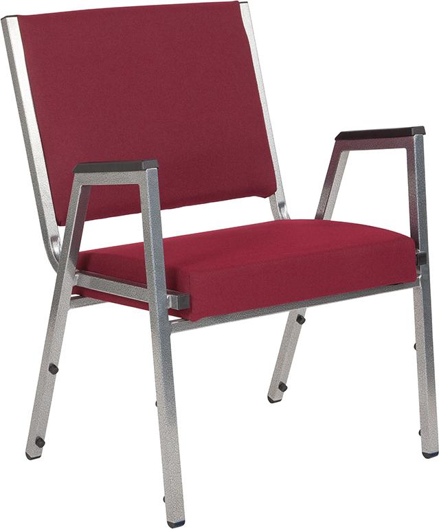 Furniture | Hercules | Burgundy | Fabric | Series | Silver | Flash | Chair | Frame