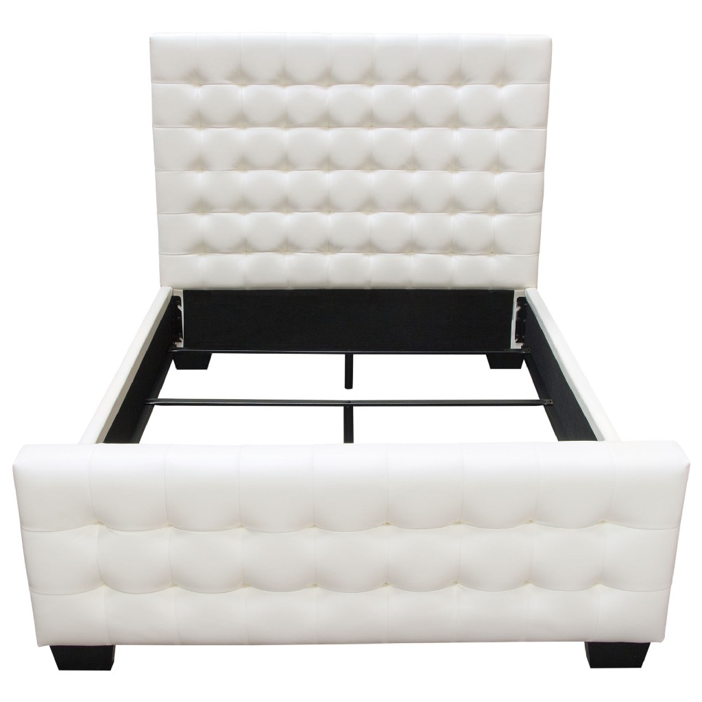 Tufted Cal King Bed Oversized Footboard